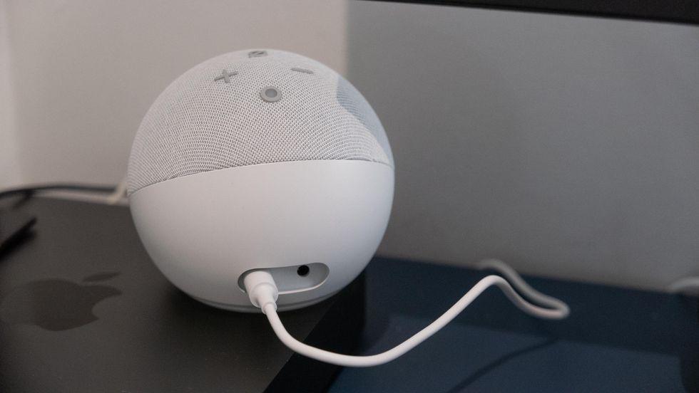 Rear of the Amazon Echo Dot (4th Gen)